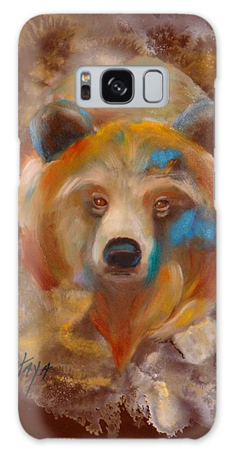 Native American Galaxy S8 Case featuring the painting Medicine Bear by Nataya Crow