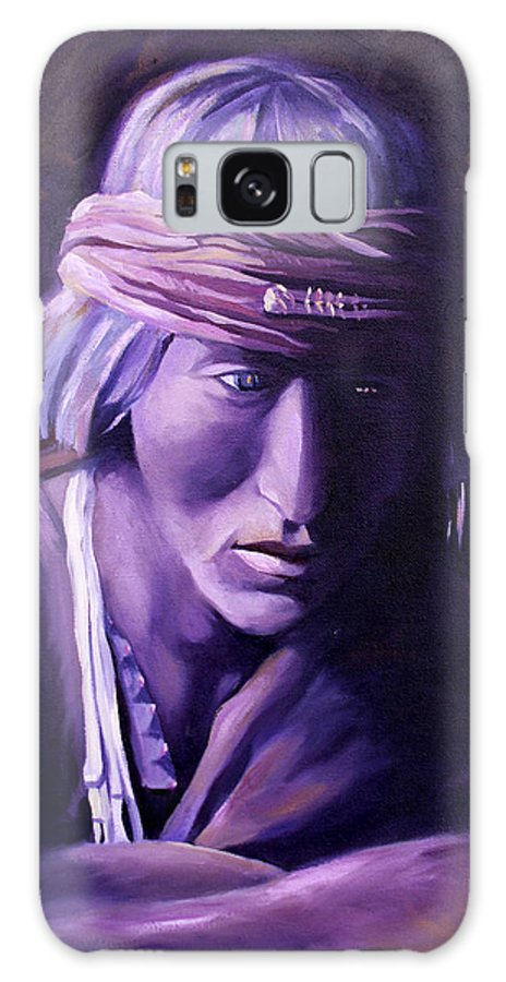 Native American Galaxy Case featuring the painting Medicine Man by Nancy Griswold