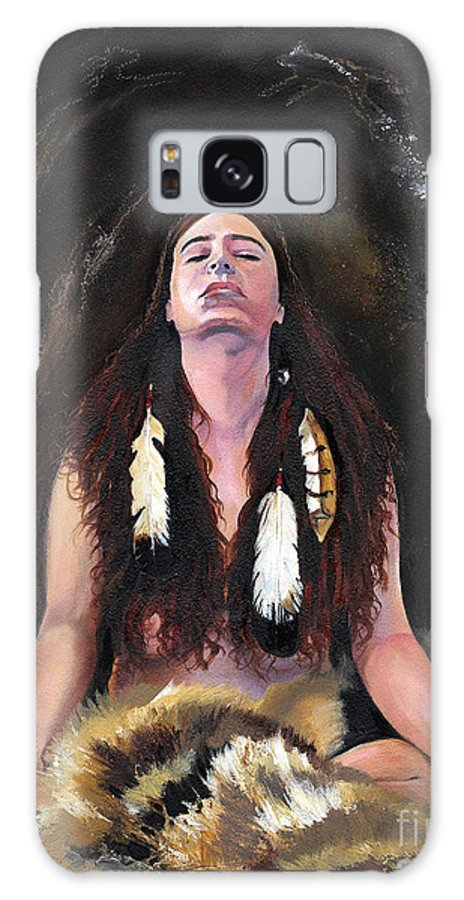 Southwest Art Galaxy Case featuring the painting Medicine Woman by J W Baker