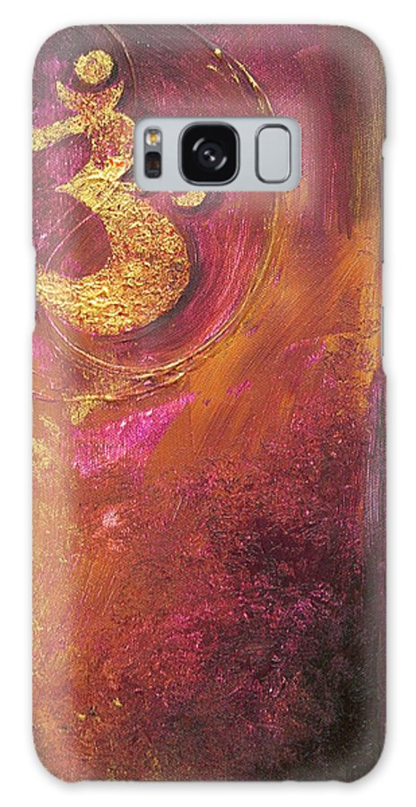 Ohm Om Mantra Yoga Spiritual Buddhist Meditationabstract Galaxy Case featuring the painting Meditations by Dina Dargo
