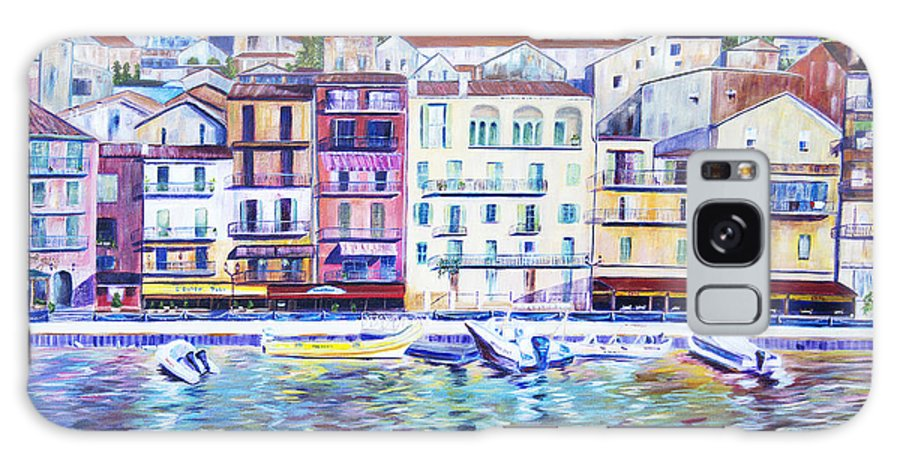 France Galaxy Case featuring the painting Mediterranean Morning by JoAnn DePolo