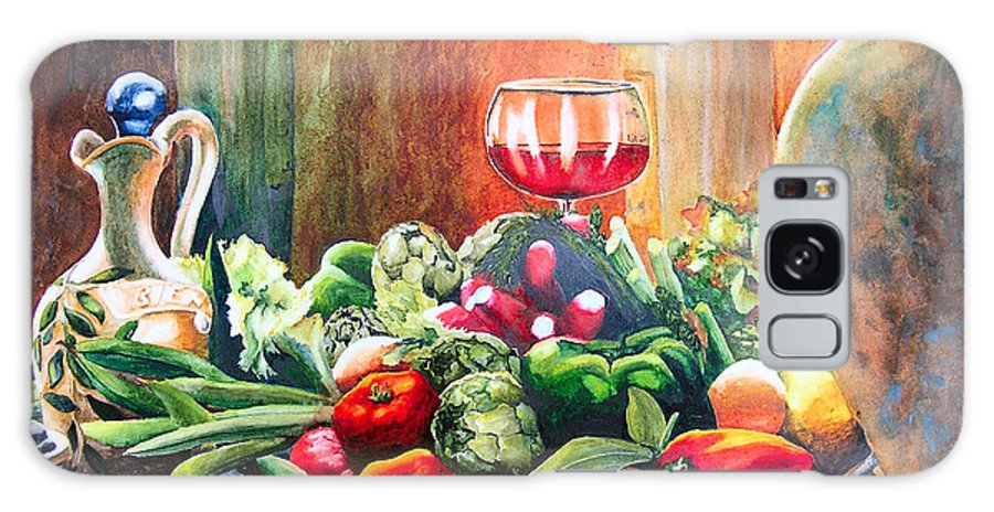 Still Life Galaxy Case featuring the painting Mediterranean Table by Karen Stark
