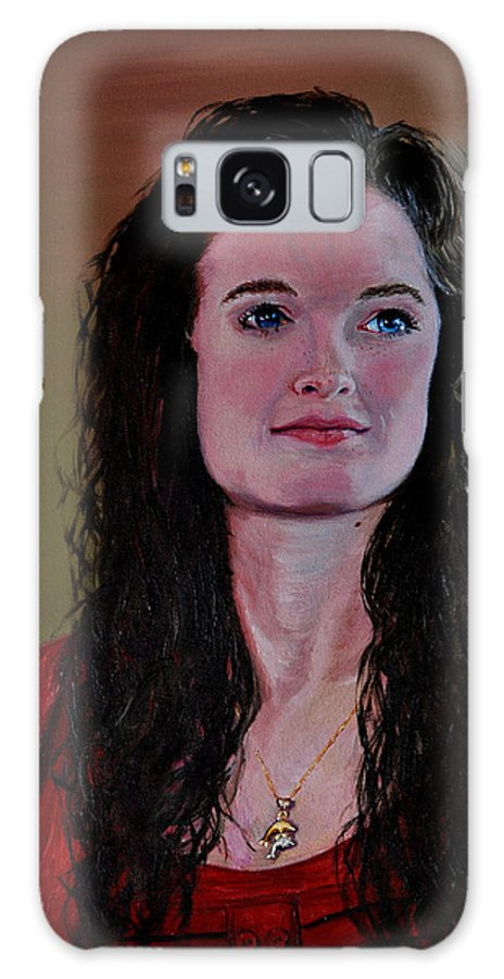Woman Galaxy S8 Case featuring the painting Megan At Eighteen by Stan Hamilton