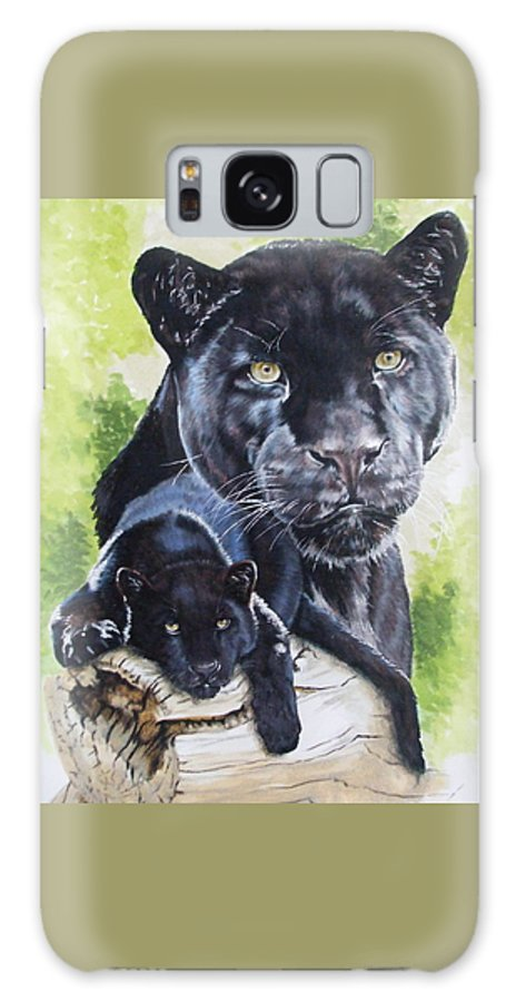 Big Cat Galaxy Case featuring the mixed media Melancholy by Barbara Keith