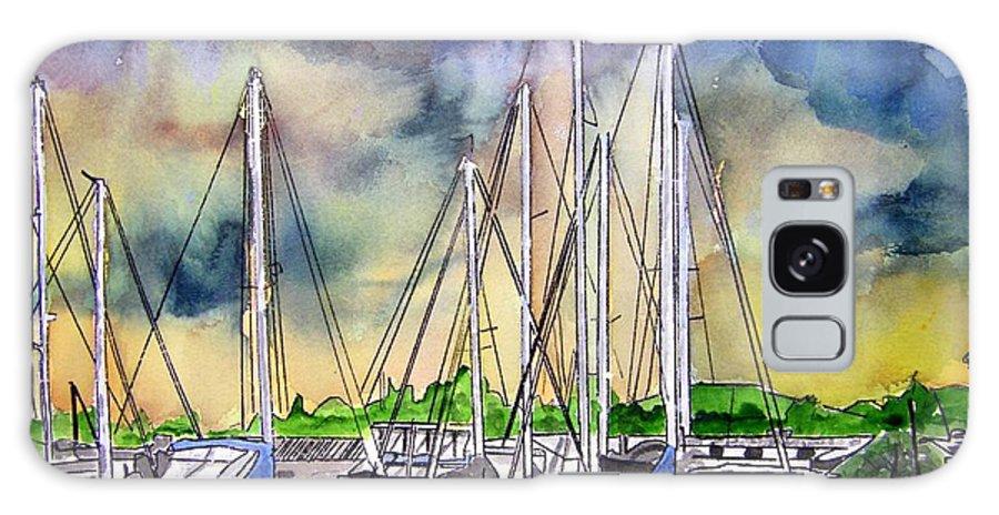 Boat Galaxy S8 Case featuring the digital art Melbourne Florida Marina by Derek Mccrea