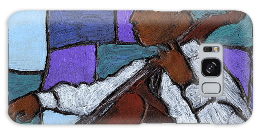 Blues Galaxy S8 Case featuring the painting Mellow Blues by Wayne Potrafka