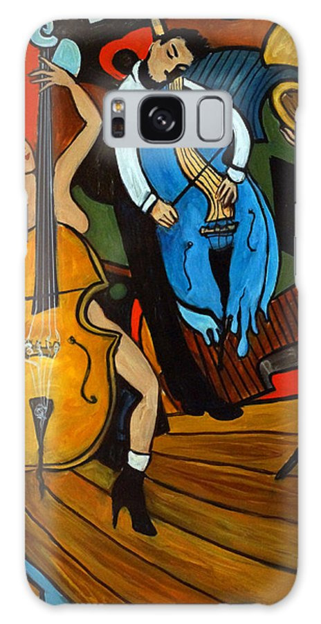 Musician Abstract Galaxy S8 Case featuring the painting Melting Jazz by Valerie Vescovi