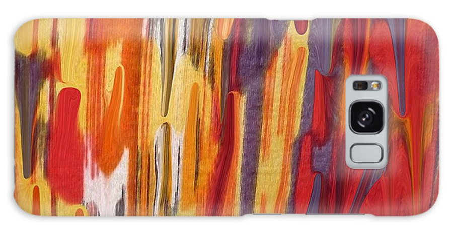 Abstract Galaxy Case featuring the painting Melting Pot by Florene Welebny