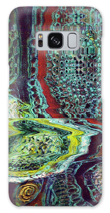 Abstract Galaxy Case featuring the painting Melting by Wayne Potrafka
