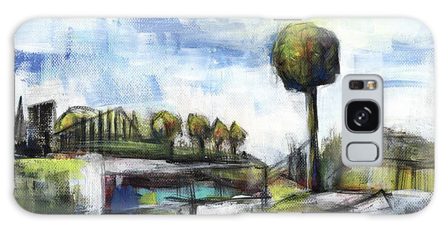 Landscape Galaxy Case featuring the painting Memories from the park by Aniko Hencz