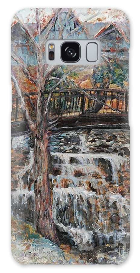 Waterfalls Galaxy S8 Case featuring the painting Memories by Nadine Rippelmeyer