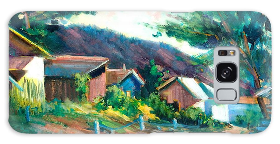 Village Galaxy S8 Case featuring the painting Mendocino by Sally Seago