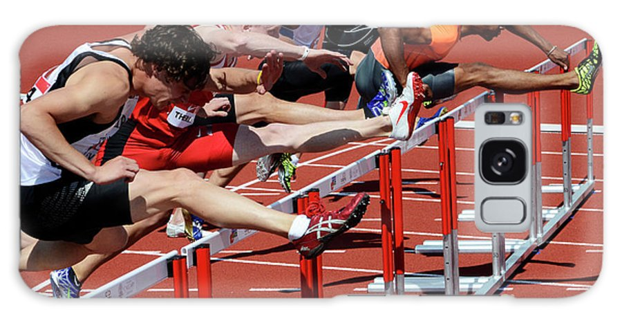 Canadian Track And Field National Championships 2011 Galaxy S8 Case featuring the photograph Mens Hurdles 2 by Bob Christopher