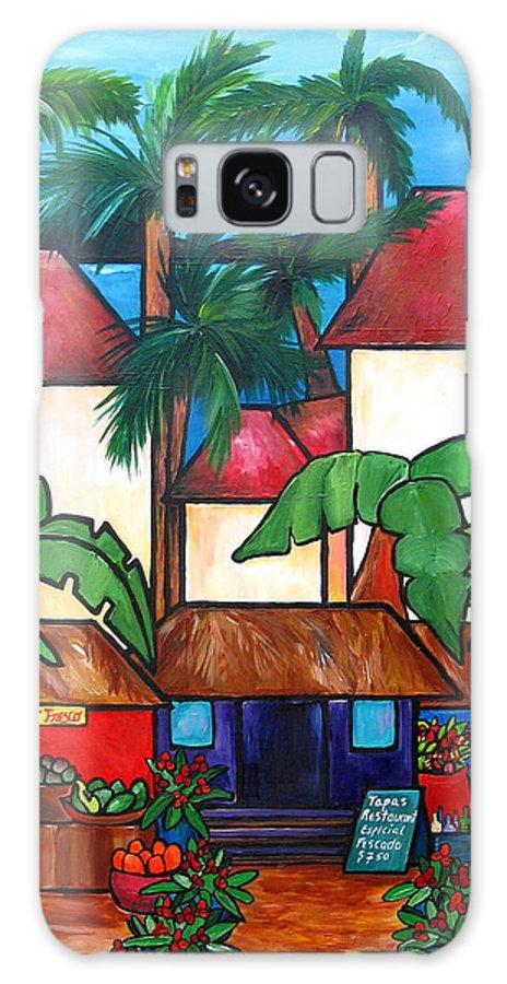 Puerto Rico Galaxy S8 Case featuring the painting Mercado En Puerto Rico by Patti Schermerhorn