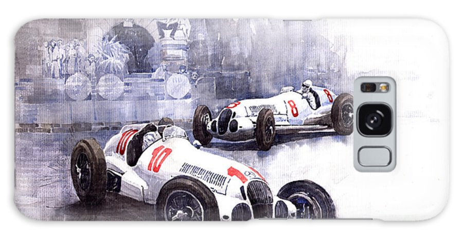 Watercolour Galaxy S8 Case featuring the painting Mercedes Benz W 125 1938 by Yuriy Shevchuk