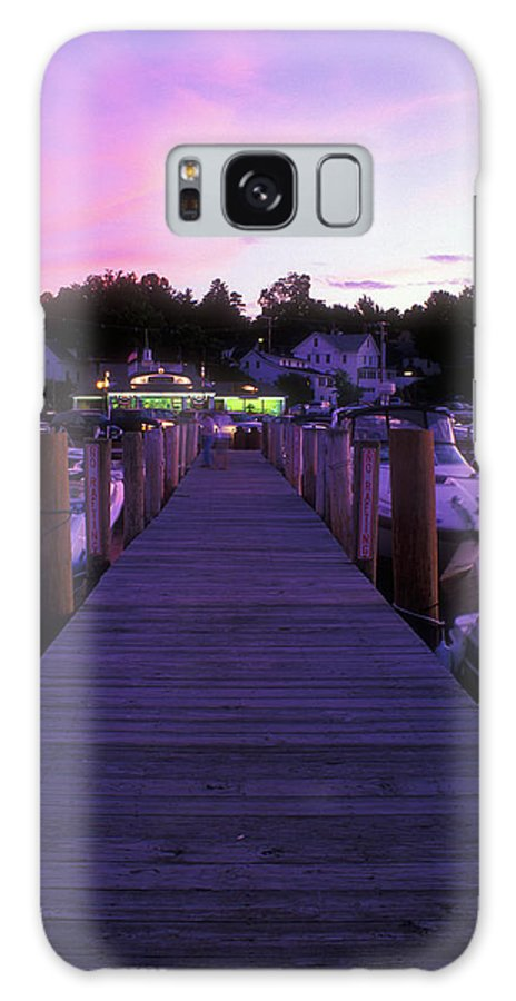 New Hampshire Galaxy S8 Case featuring the photograph Meredith Nh Boardwalk At Twilight by John Burk