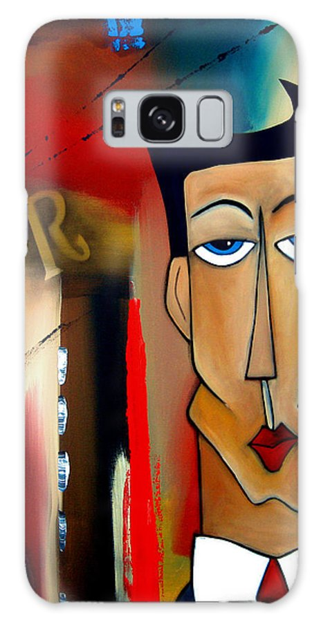 Fidostudio Galaxy Case featuring the painting Merger - Abstract Art by Fidostudio by Tom Fedro - Fidostudio