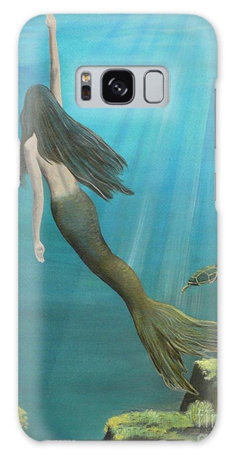 Mermaid Galaxy S8 Case featuring the painting Mermaid Of Weeki Wachee by Kris Crollard