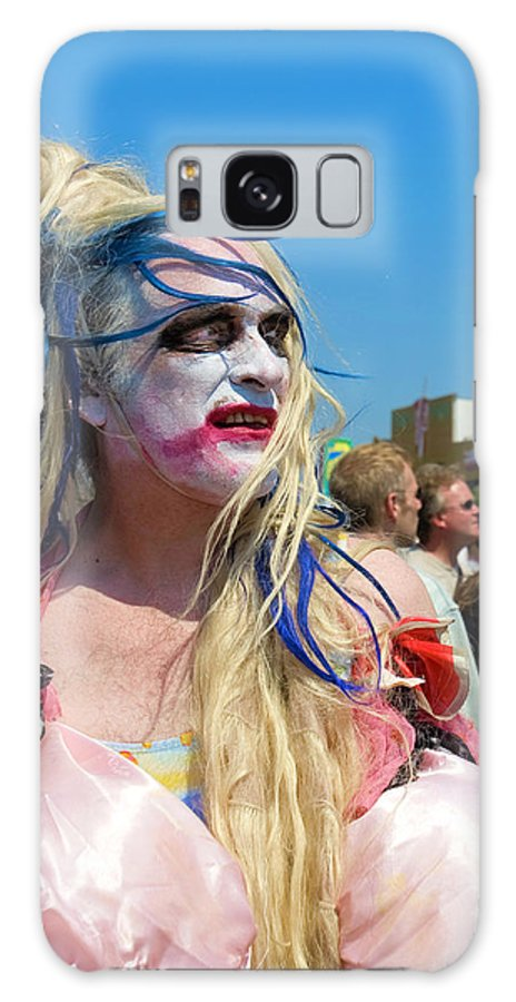 Man Galaxy S8 Case featuring the photograph Mermaid Parade Man In Coney Island by Madeline Ellis