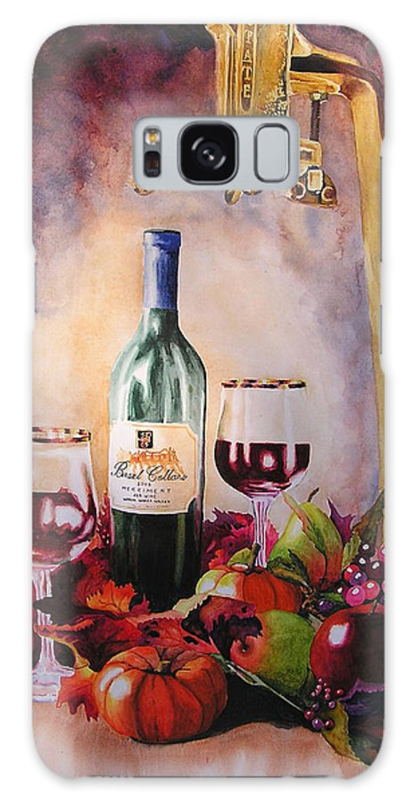 Wine Galaxy Case featuring the painting Merriment by Karen Stark