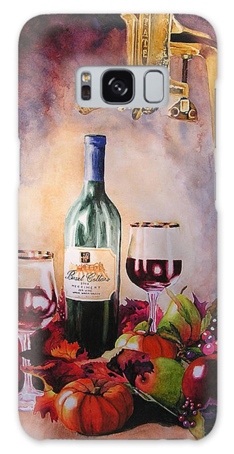 Wine Galaxy S8 Case featuring the painting Merriment by Karen Stark