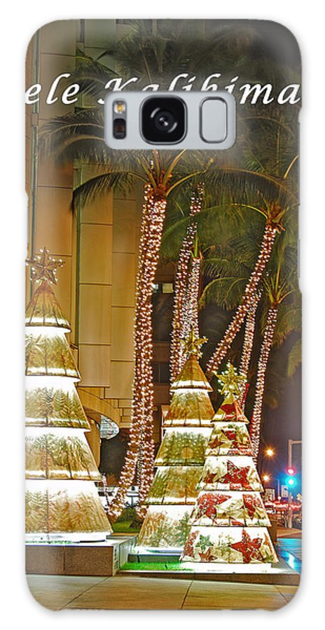 Merry Christmas Galaxy S8 Case featuring the photograph Merry Christmas by Michael Peychich