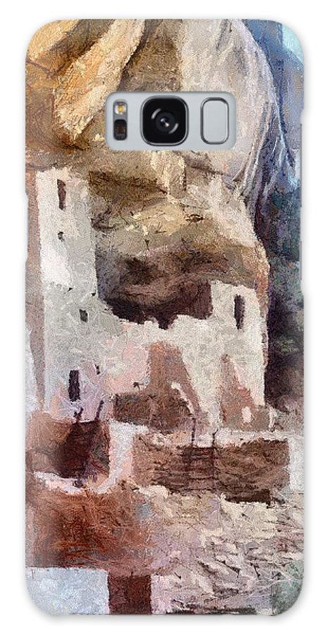 American Southwest Galaxy S8 Case featuring the painting Mesa Verde by Jeffrey Kolker