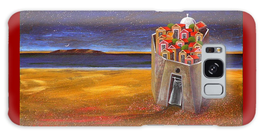 Superrealism Galaxy Case featuring the painting Mesi Castle Village by Dimitris Milionis