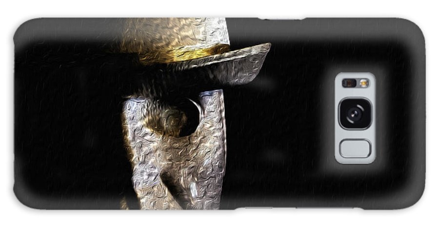 Mask Galaxy S8 Case featuring the photograph Metal Mask Silhouette by Joe Crowe