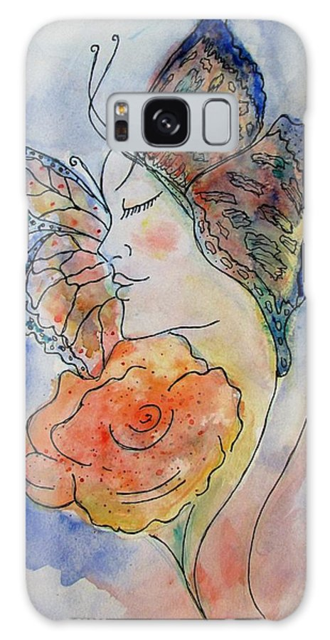 Watercolor Painting Galaxy S8 Case featuring the painting Metamorphosis by Robin Monroe