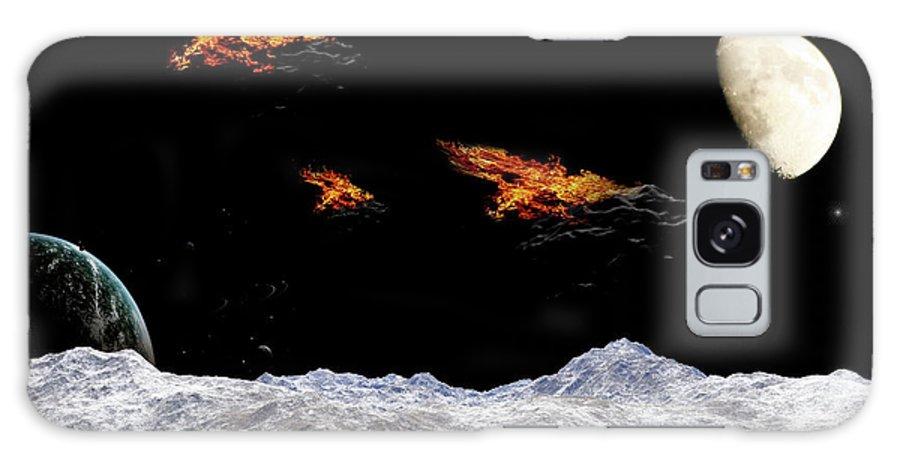 Space Galaxy S8 Case featuring the digital art Meteoritos by Angel Jesus De la Fuente