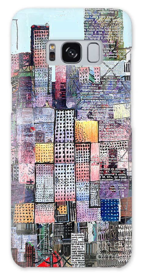 Metro Galaxy Case featuring the digital art Metropolis 3 by Andy Mercer