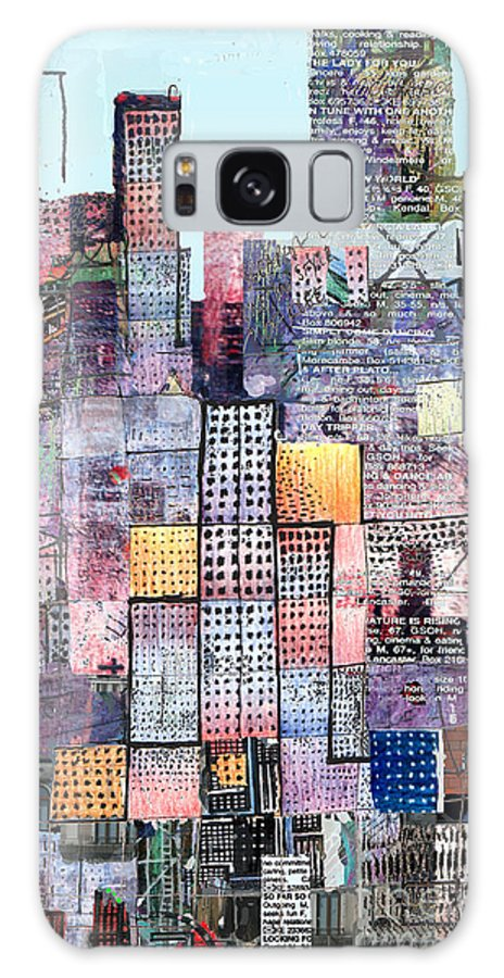 Metro Galaxy S8 Case featuring the digital art Metropolis 3 by Andy Mercer