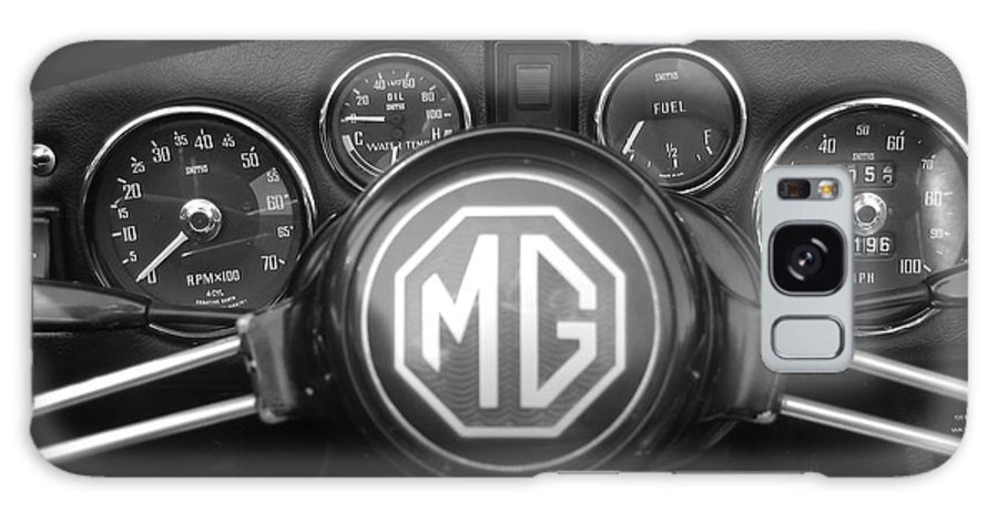 Mg Midget Galaxy S8 Case featuring the photograph Mg Midget Dashboard by Neil Zimmerman