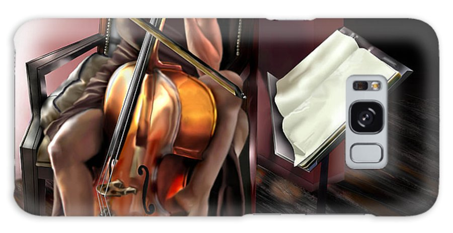 Cello Galaxy S8 Case featuring the painting Mi Chica - Solace In The Unseen by Reggie Duffie