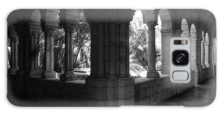 Black And White Galaxy S8 Case featuring the photograph Miami Monastery In Black And White by Rob Hans