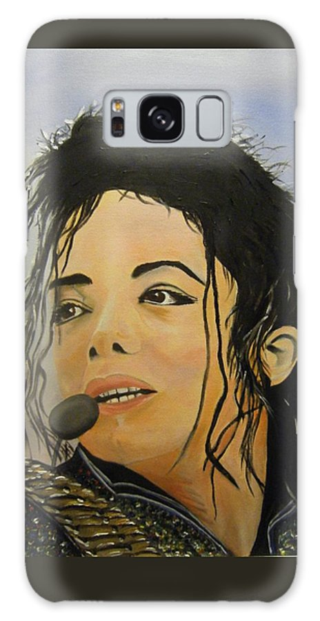Michael Jackson Galaxy S8 Case featuring the painting Michael Jackson by Joseph Papale