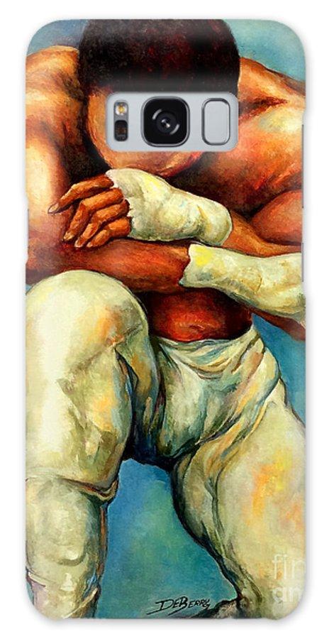Lloyd Debery Galaxy Case featuring the painting Michael Original by Lloyd DeBerry