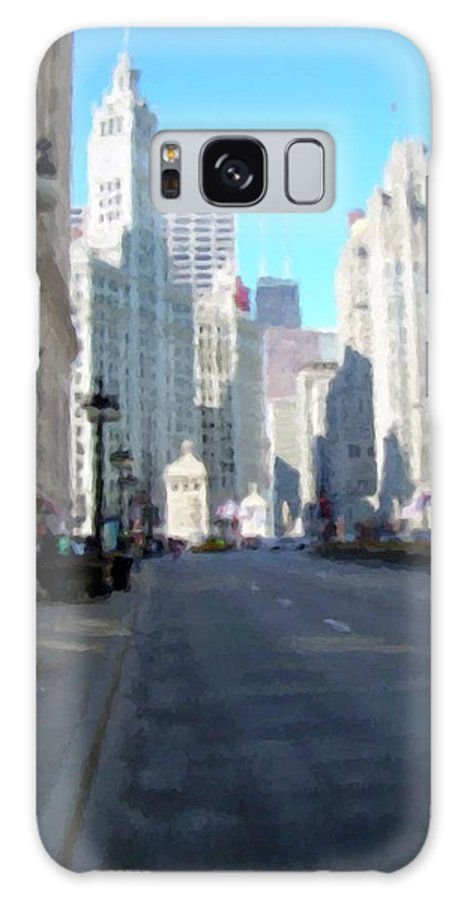 Chicago Galaxy Case featuring the digital art Michigan Ave Tall by Anita Burgermeister