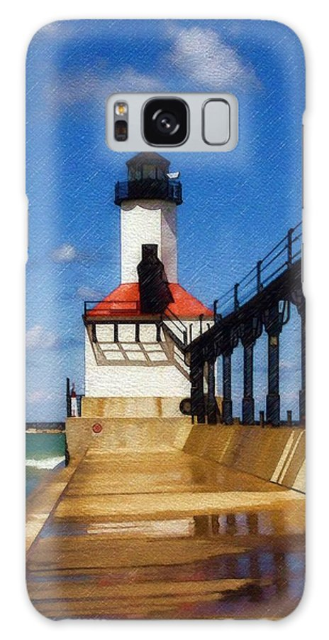 Lighthouse Galaxy Case featuring the photograph Michigan City Light 1 by Sandy MacGowan