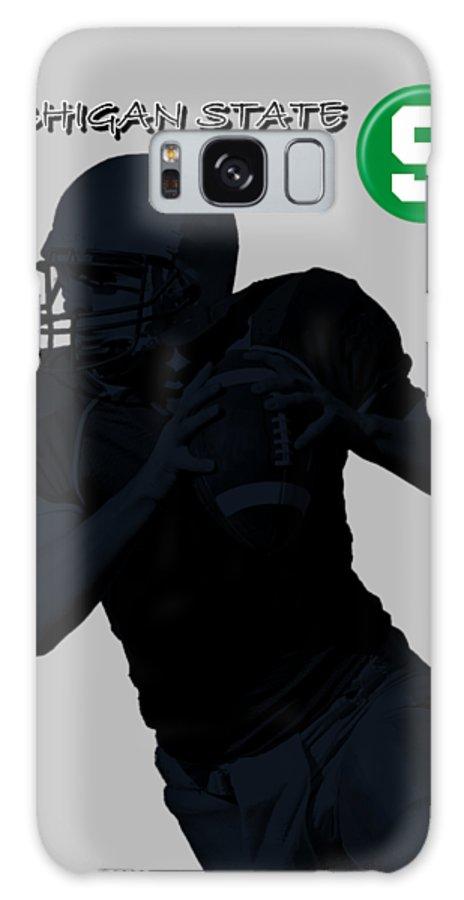 Football Galaxy S8 Case featuring the digital art Michigan State Football by David Dehner