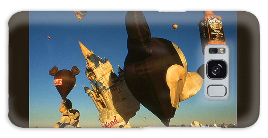 Balloons Galaxy S8 Case featuring the photograph Mickey Mouse And Friends - Hot Air Balloons by Peter Potter