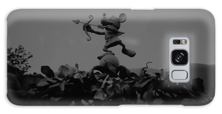 Black And White Galaxy S8 Case featuring the photograph Mickey Mouse In Black And White by Rob Hans