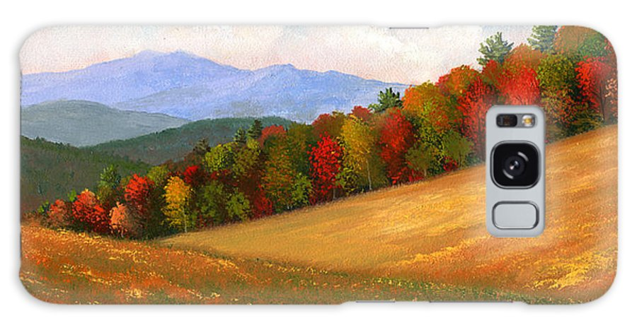 Landscape Galaxy S8 Case featuring the painting Mid Autumn by Frank Wilson