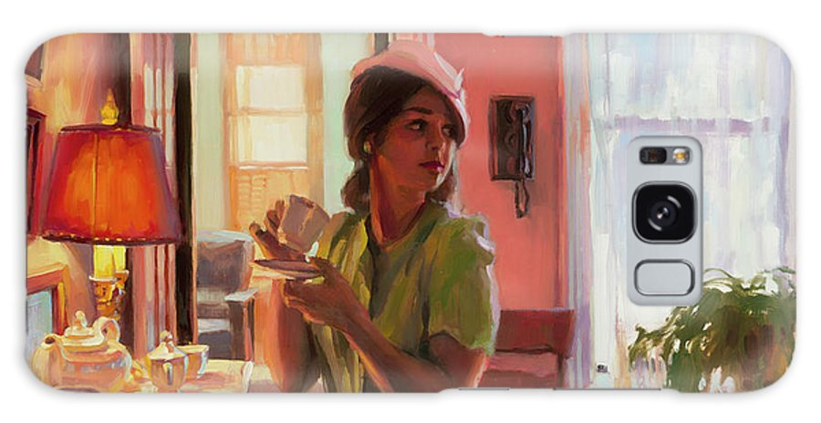 Nostalgia Galaxy S8 Case featuring the painting Midday Tea by Steve Henderson