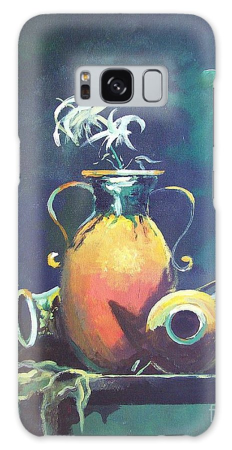 Still Life Galaxy S8 Case featuring the painting Midnight Moon by Sinisa Saratlic