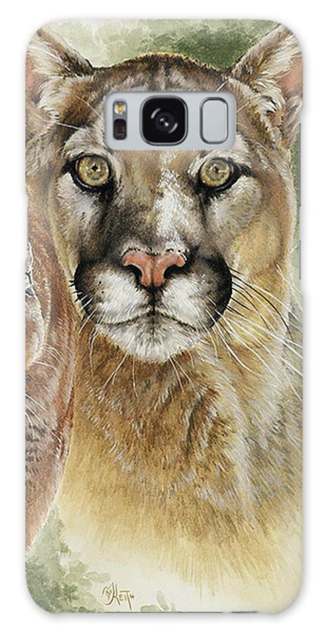 Cougar Galaxy Case featuring the mixed media Mighty by Barbara Keith