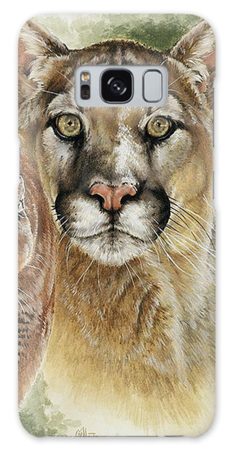 Cougar Galaxy S8 Case featuring the mixed media Mighty by Barbara Keith