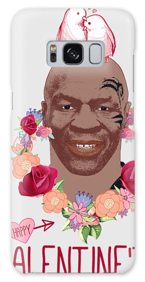 Mike Tyson Galaxy S8 Case featuring the digital art Mike Tyson Inspired Valentines Happy Valentine'th Day by Robert Kelly
