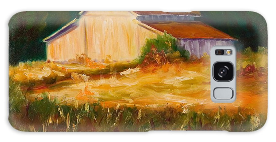 Barn Galaxy S8 Case featuring the painting Mike's Barn by Shannon Grissom
